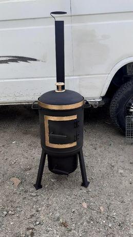 Продам мангал печь 2 в 1 под казан и барбекю 20000