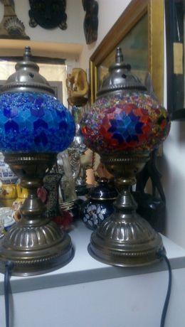 Стара витражна лампа месинг