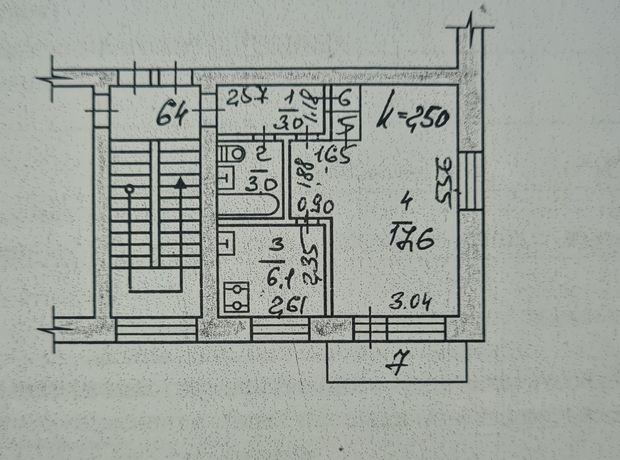 Продам 1-комн квартиру 4/4 этаж углавая балкон застекленный