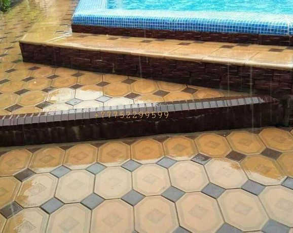 Евробрусчатка ( мрамор из бетона) брусчатка. Тротуарная плитка!