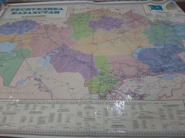 Административно-территориальная карта РК
