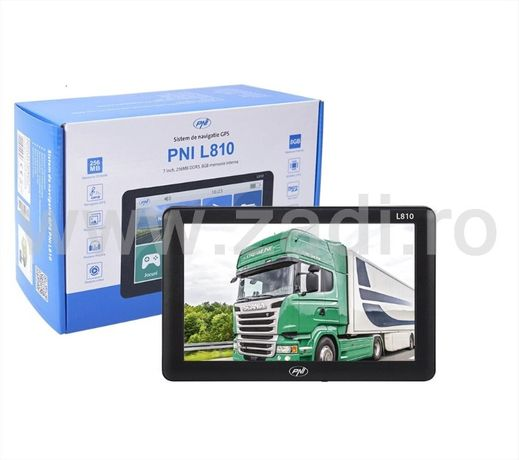 Sistem GPS-PNi-Ecran mare -Soft camion+harti si setari