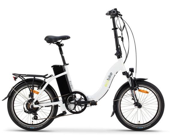 Сгъваемо електрическо колело EcoBike Even - бяло