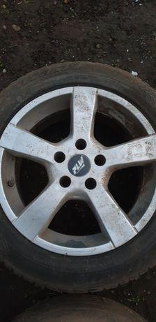 4 Jante aliaj VW stare bună.Roată rezervă slim VW nefolosită.