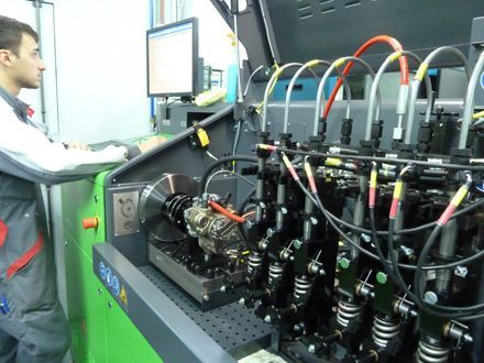 Ремонт на дюза дизел комън рейл инжектори рециклиране дюзи стенд Delph