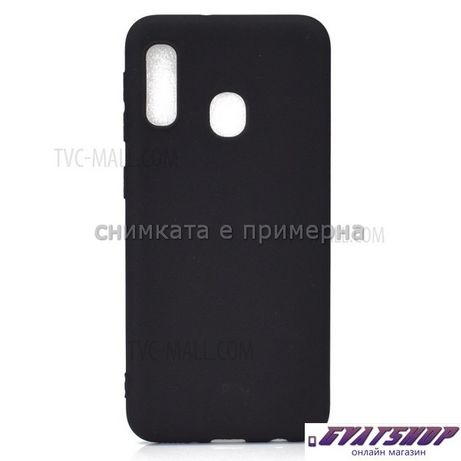 HUAWEI Y5P / Y6P, Forcell SOFT ТПУ матов Кейс, черен