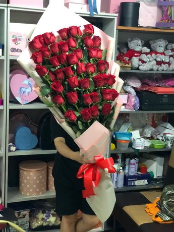Розы, цветы, пионы Алматы с круглосуточной доставкой