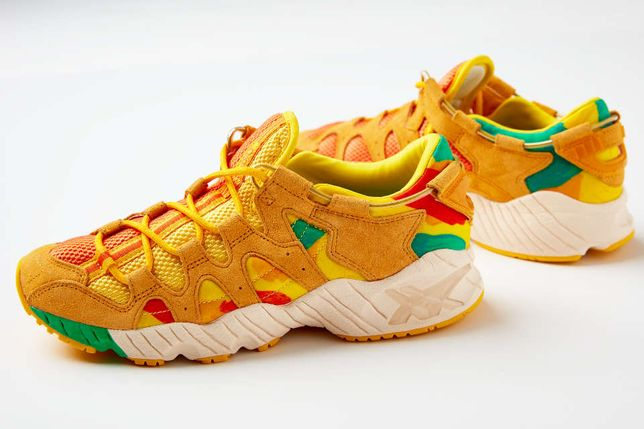 Adidasi originali Asics Gel Lyte Mai - Sunflower Edition, K100,nmd,eqt