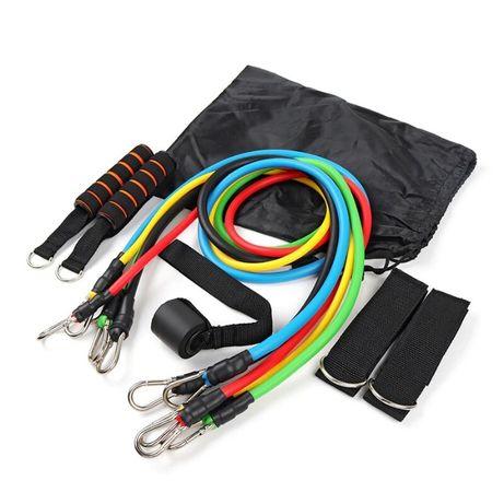 Новый Набор эспандеров Resistance Set 11 предметов, нагрузка до 45 кг
