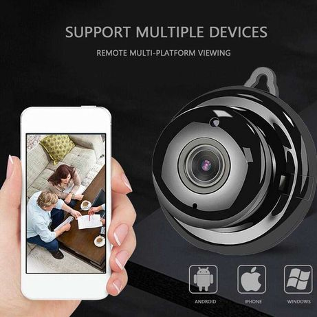 НОВА! Wi-Fi Мини Панорамна Смарт Камера Бебефон Нощно Виждане