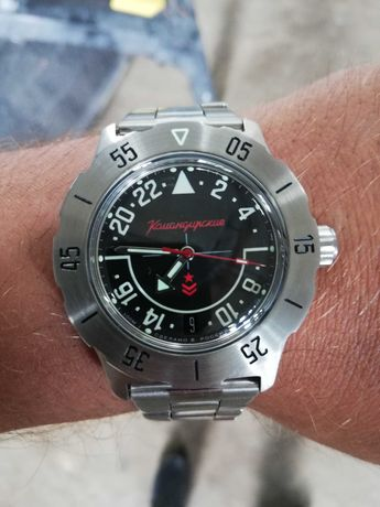 Часы наручные марки слава с 24 часовым циферблатом.