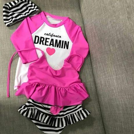 Купальник на девочку детские защитные купальные костюмы