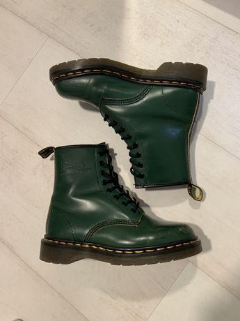 Bocanci Dr Martens 37, piele, verde
