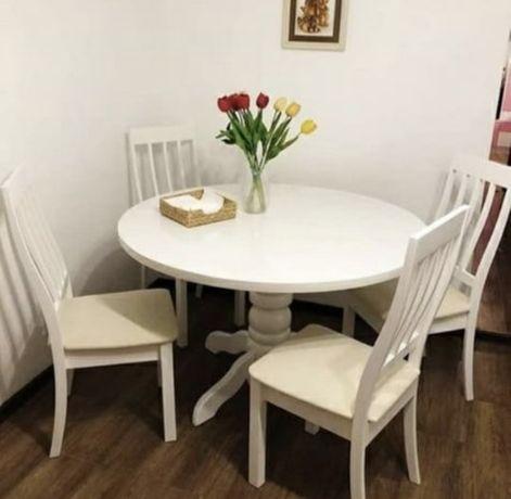 Стол и стулья круглый стол