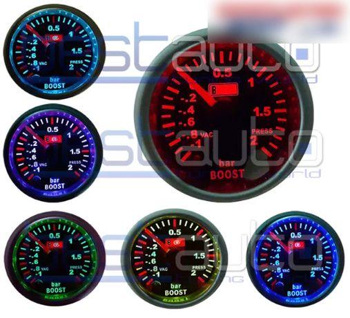Измервателен уред буустметър/boostmeter RGB с опушено стъкло 6 цвята