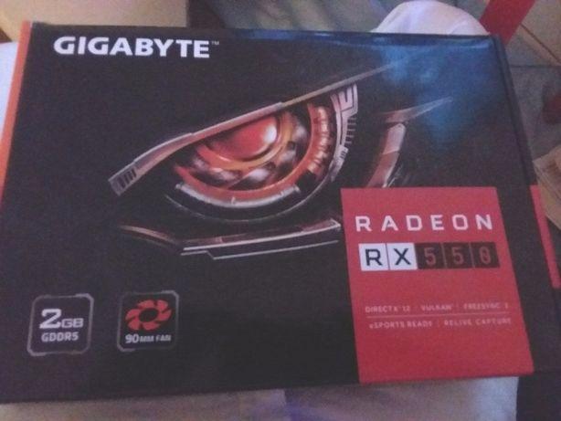 Placa video 2GB DDR5 128-bit RX550 Radeon Gaming Gigabyte