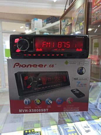 Магнитола Pioneer, блютуз,Мафон, магнитофон, в авто, Каспи Ред