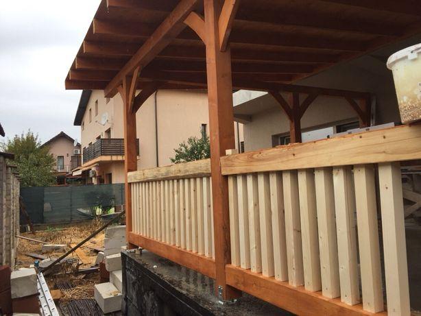 Terase din lemn masiv