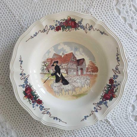 Антикварни френски чинии Obernai Sarreguemines 1920-те