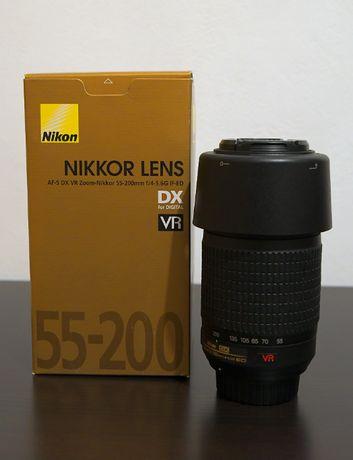 Obiectiv Nikon 55-200 mm f/4-5.6G IF-ED AF-S DX VR Impecabil!