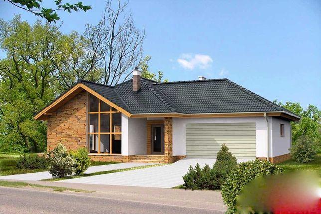 Casa pe structura din lemn la cheie