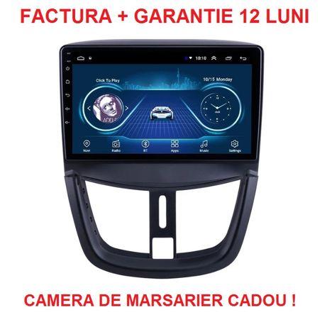 Navigatie Peugeot 207 , Android Display 9 inch , Noua , Garantie 2GB