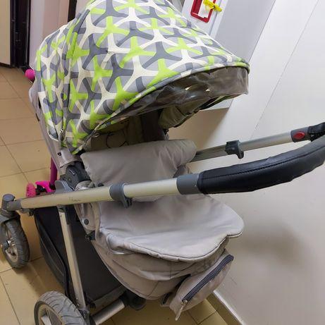 Коляска Happy Baby Ultra Aqua(2 в 1) - многофункциональная коляска от