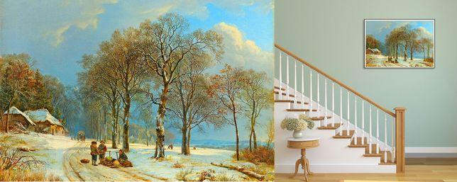 "Puzzle ""Winter Landscape"" 1000piese. Marime 75x50cm Nou ambalat!"