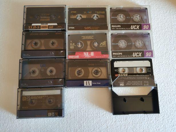 Casete audio crom, Sony ux-es, Tdk, Philips, Maxell, Basf