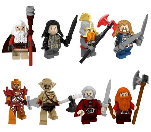 Minifigurine tip Lego Lord of the Rings pack6 cu Dain Ironfoot