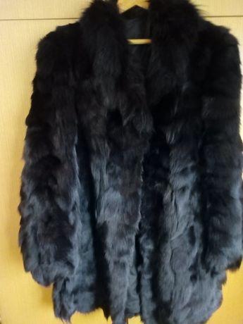 Палто с естествен косъм от лисица