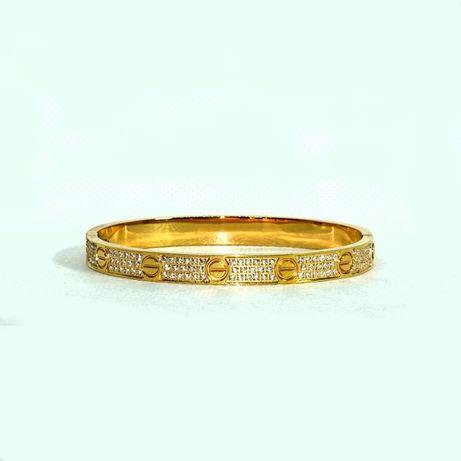 Bratara Cartier Love Diamond Auriu si Argintiu - Dama si Barbat
