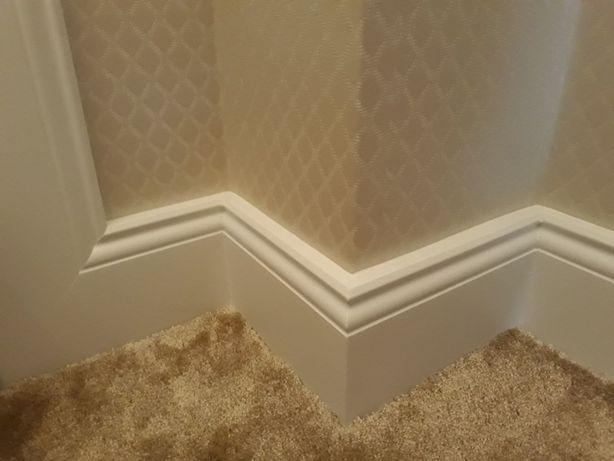 Plinta decorativa alba din polimer dur / poliuretan sau mdf