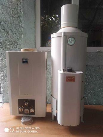 Газовая печь с колонкой