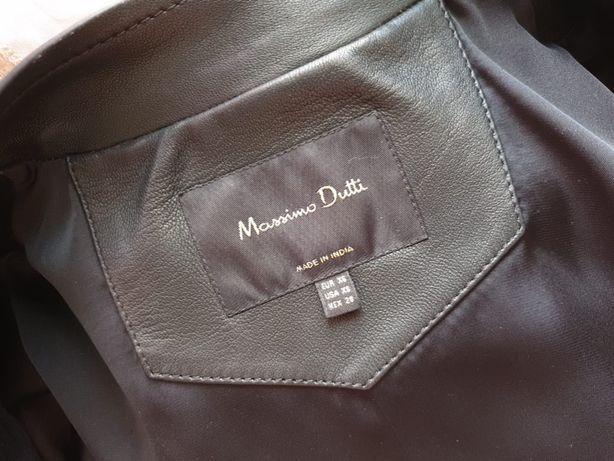 Кожаная куртка (косуха) Massimo Dutti (Массимо Дутти), новая, XS