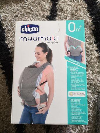 БЕЗПЛ.ДОСТОВКА Ергономично кенгуру/раница Chicco Myamaki Complete Grey