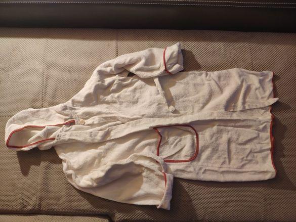 Бял хавлия с качулка р.116см
