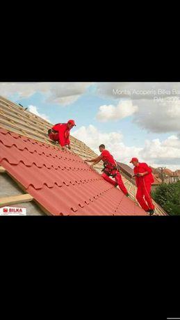 Montaj acoperișuri reparații acoperiș tigla metalica