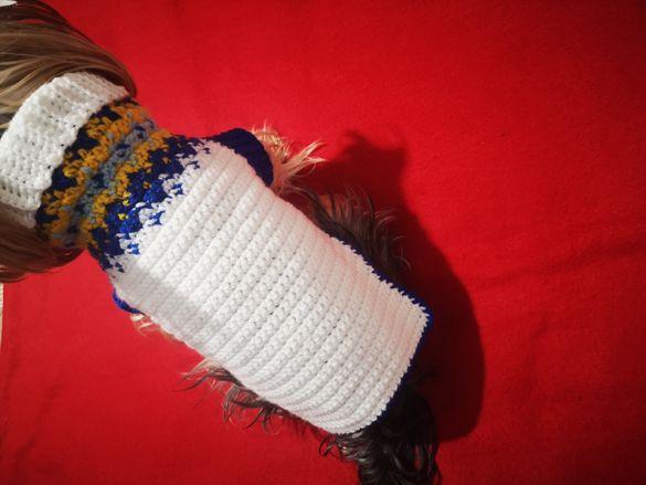 Ръчно плетена дреха за куче