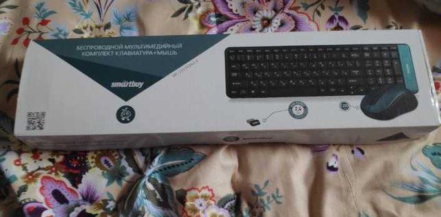 Безпроводная мышь+клавиотура+батереики