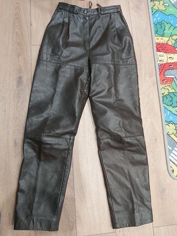 Pantaloni piele naturala vintage dama maro