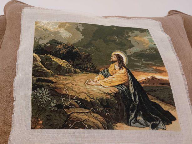 Goblen superb Ruga lui Iisus, de mari dimensiuni: 40cm(L)/36cm(l).