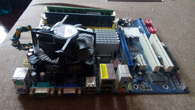 Placa baza Calculator PC Asrock Intel Q8200 quad core memorie 4gb