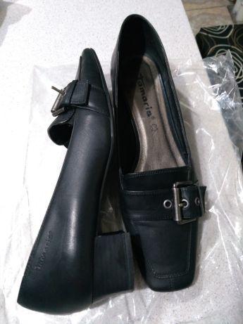 Pantofi Tamaris piele naturala negri
