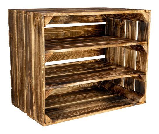 Ladite / Lazi / Cutii din Lemn de Pin Arse 50x40x30 cm