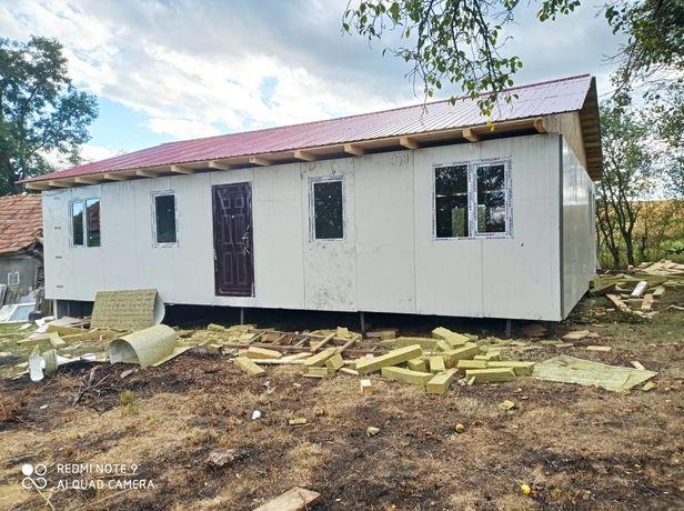 Vând casă pe structură metalică 12x7