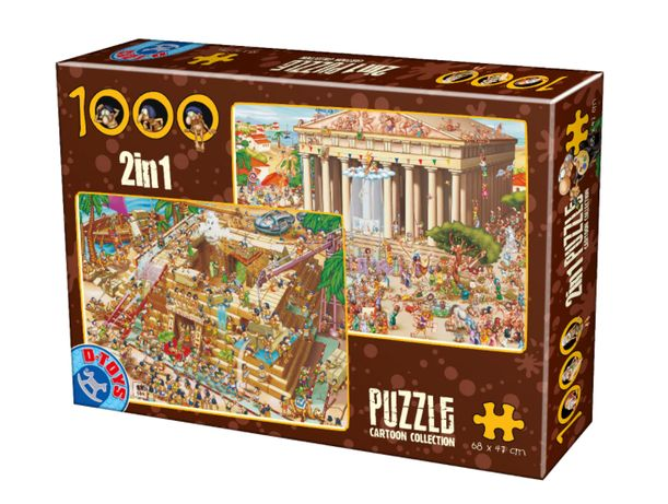 Puzzle 2 in 1 D-Toys Cartoon Collection