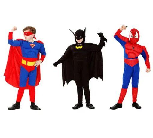 Детски костюм спайдърмен с мускули , spiderman с мускули ,батман spaid