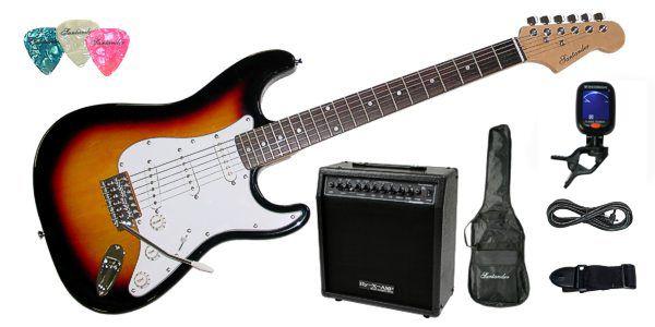 Set chitara electrica Santander ST-500 SUNBURST Hy-X-AMP Soundmaster65