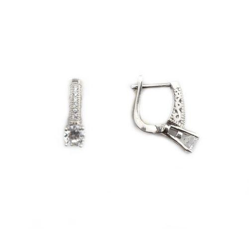 Cercei argint rodiat cu zirconiu - DA208 - Transport Gratuit Curier